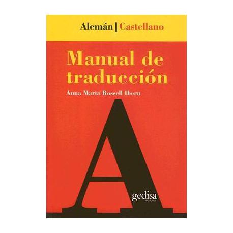 MANUAL DE TRADUCCION ALEMAN - ESPAÑOL